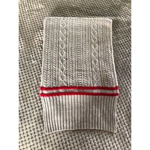 Banana Republic Grey and Red Sweater Scarf